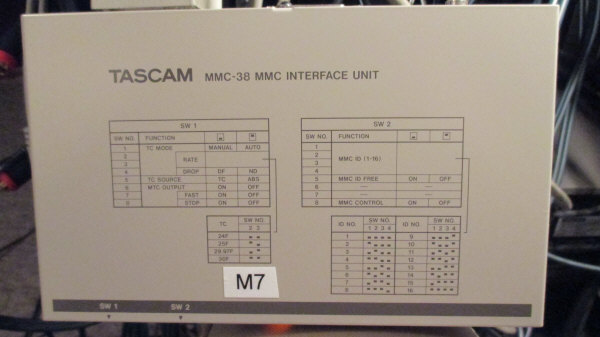 Tascam MMC-38 Top View