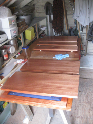 Sanding Sealer with Bloodwood Dye